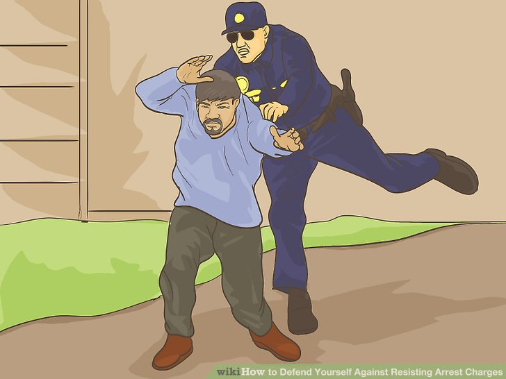 Identify how you resisted arrest.