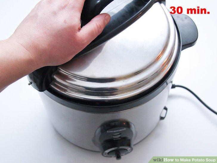 Decken Sie den Herd ab und kochen Sie ihn 30 Minuten lang hoch.