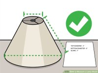 3 Ways to Measure a Lamp Shade - wikiHow