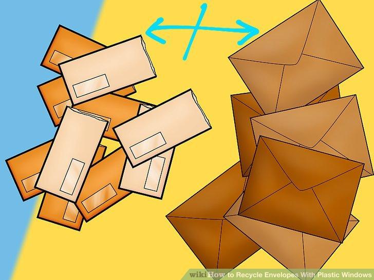 Legen Sie Ihre Umschläge mit Kunststofffenstern zusammen mit dem anderen Papierrecycling ein, wenn Ihr Recyclingbüro dies empfiehlt.