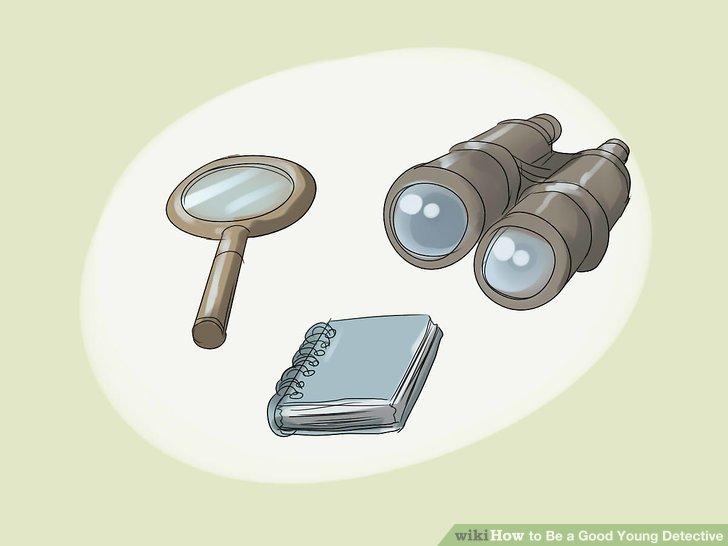 Haben Sie immer eine gute Detektivausrüstung bei sich.