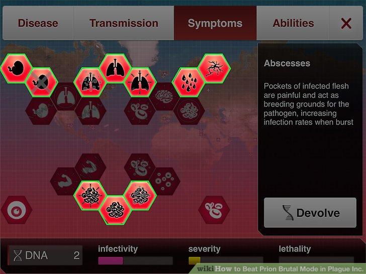 Konzentrieren Sie sich auf Symptome, die Ihre Krankheit verbreiten.