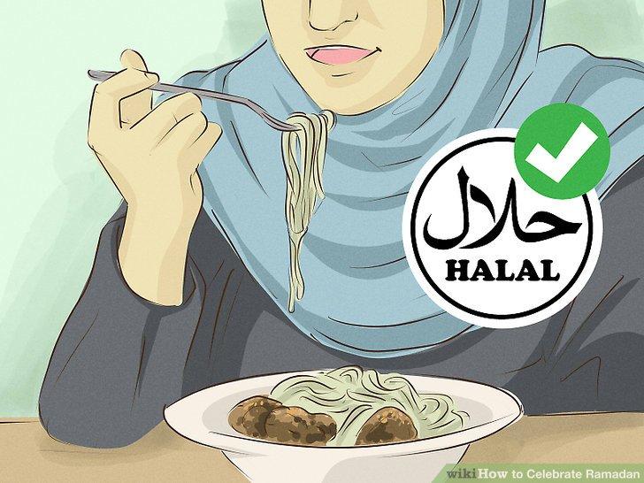 Essen Sie das Halal im Ramadan, wie Sie es das ganze Jahr über tun.