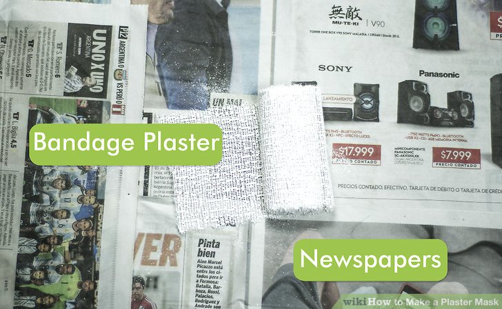 Create a work area with newspapers and a drop cloth.