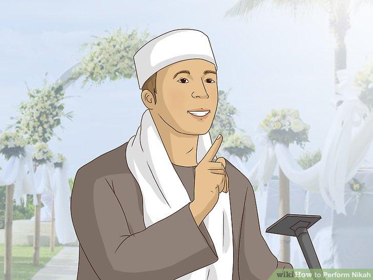Lassen Sie den Imam eine Ehepredigt halten, wenn Sie der Tradition folgen möchten.