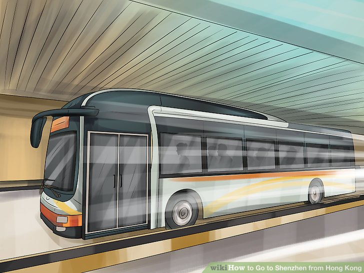 Steigen Sie vom Flughafen in einen grenzüberschreitenden Bus.