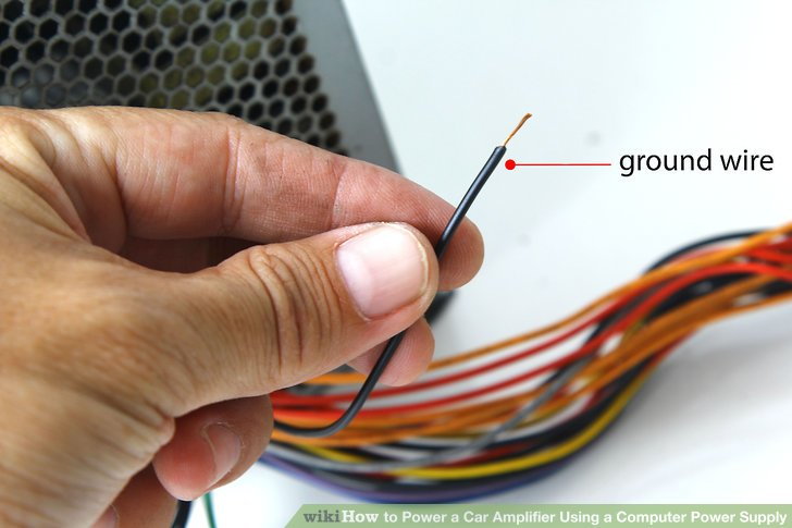 wiring diagram for car amplifier magnetic starter how to power a using computer supply image titled step 3
