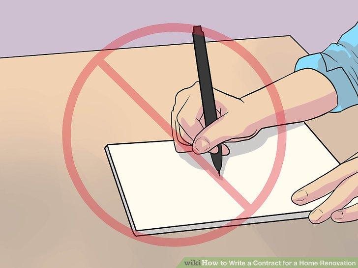 Unterschreiben Sie niemals einen leeren Vertrag.