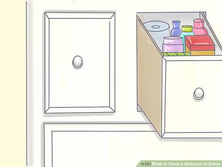 Platzieren Sie einen Waschtisch in oder direkt neben Ihrem Kleiderschrank.