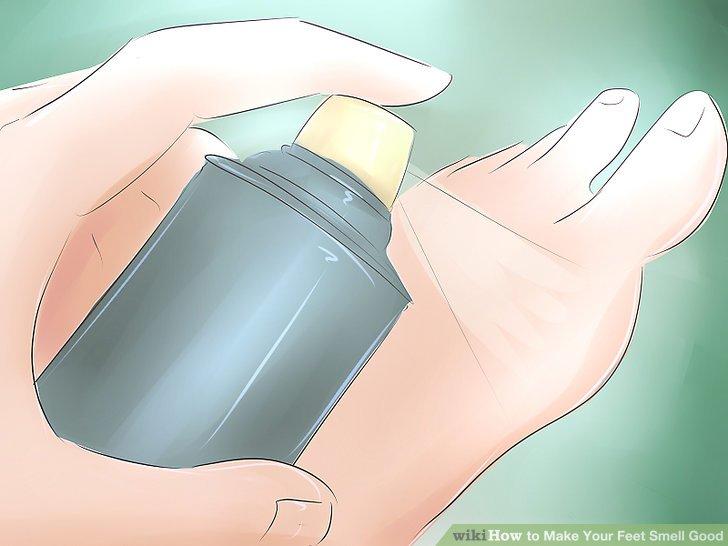 Tragen Sie ein Spraydeodorant oder Antitranspirant auf Ihre Füße auf.