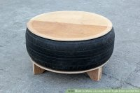 How to Make a Living Room Table from an Old Tire: 8 Steps