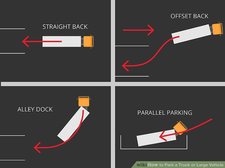 cdl pre trip inspection diagram telephone connection box wiring 3 ways to park a truck or large vehicle - wikihow