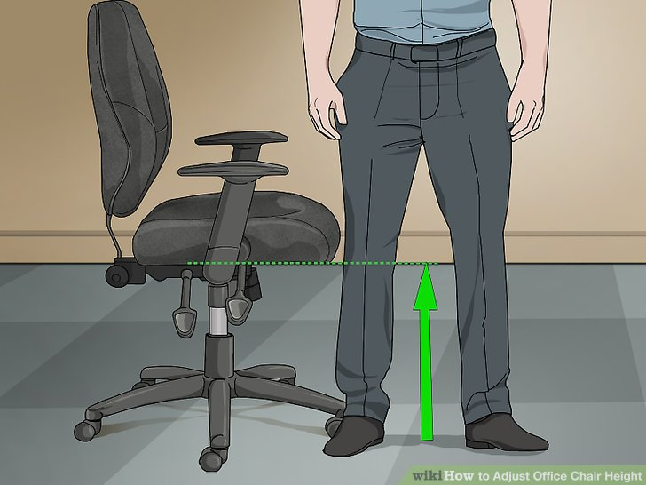office chair height covers brisbane hire 3 ways to adjust wikihow image titled step