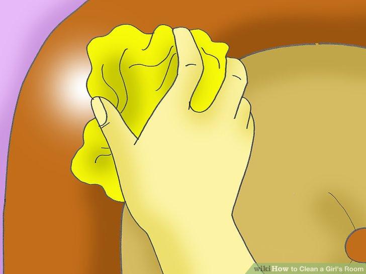 Holen Sie sich ein Tuch und Reinigungsmittel, die für Ihren Bettrahmen geeignet sind.