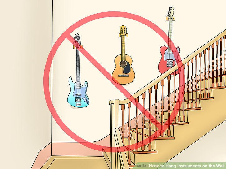 how to hang instruments