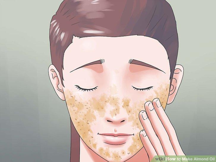 Verwenden Sie Mandelöl als Gesichtspeeling.