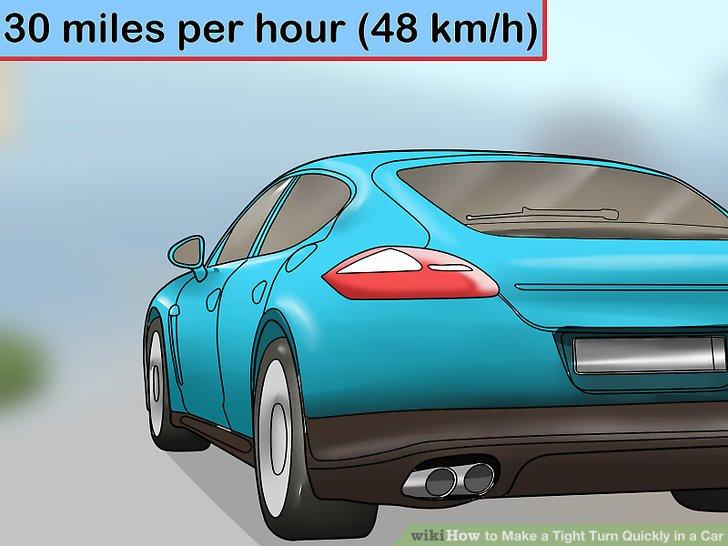 Fahren Sie mit hoher Geschwindigkeit in die Kurve.