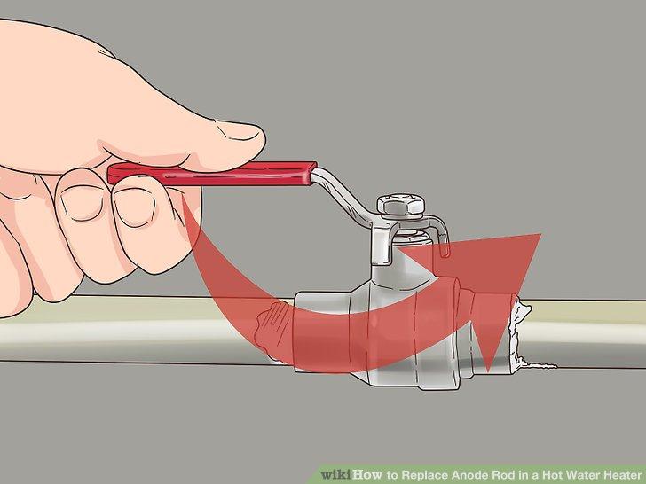 Schalten Sie die Wasserzufuhr zum Tank ab.