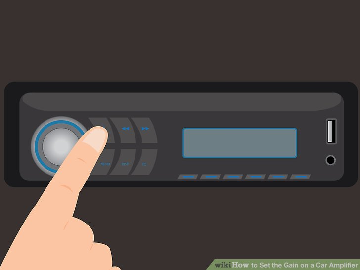 Schalten Sie die Stereoanlage aus.