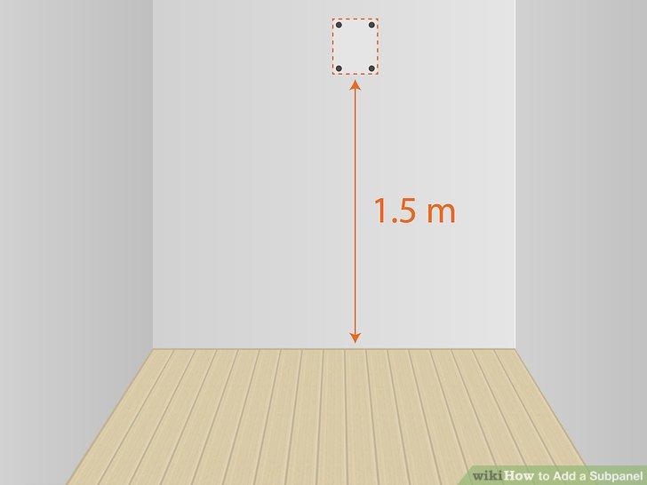 Messen Sie ca. 1,5 m über dem Boden, um die Stelle zu markieren, an der Sie die Platte montieren möchten.