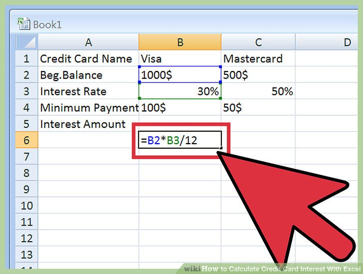 how to calculate credit card interest