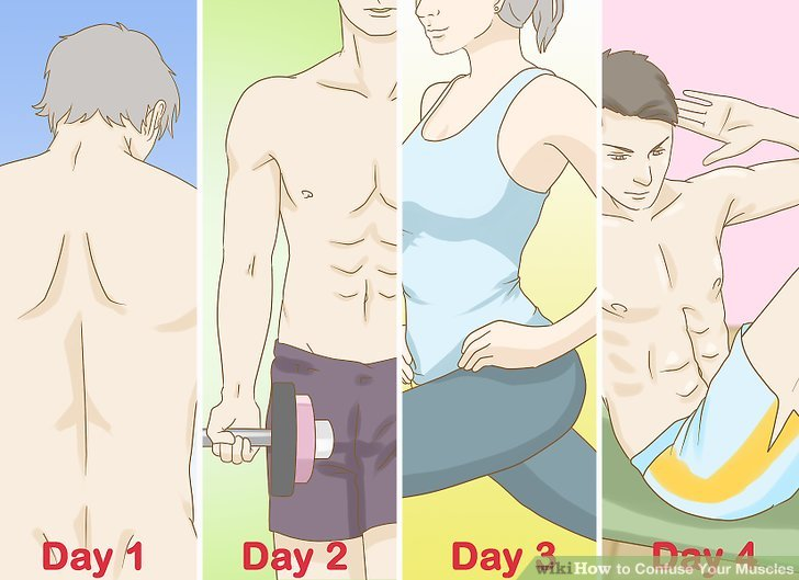Change to a new workout routine for weeks three and four.