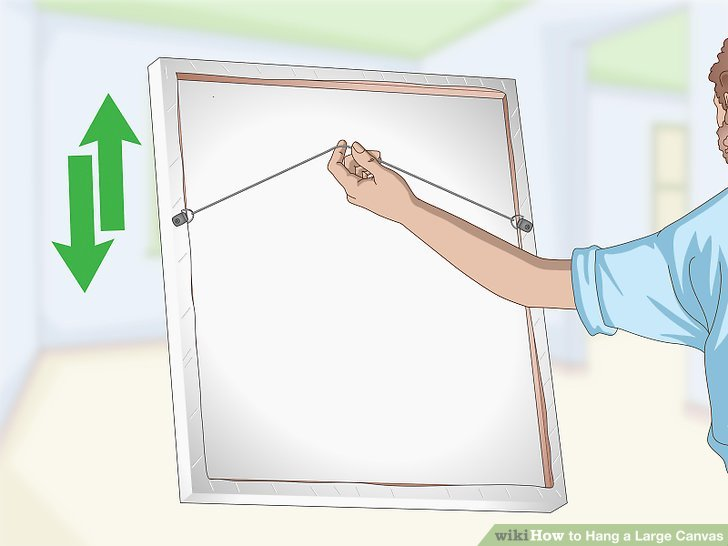How to Hang a Large Canvas 11 Steps with Pictures  wikiHow
