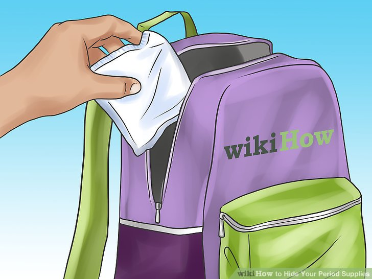 Keep some pads or tampons in your backpack.