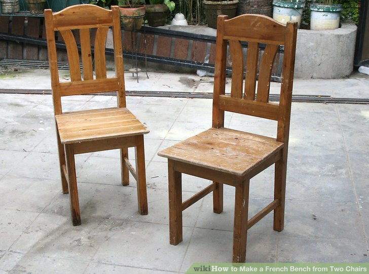 How to Make a French Bench from Two Chairs: 14 Steps