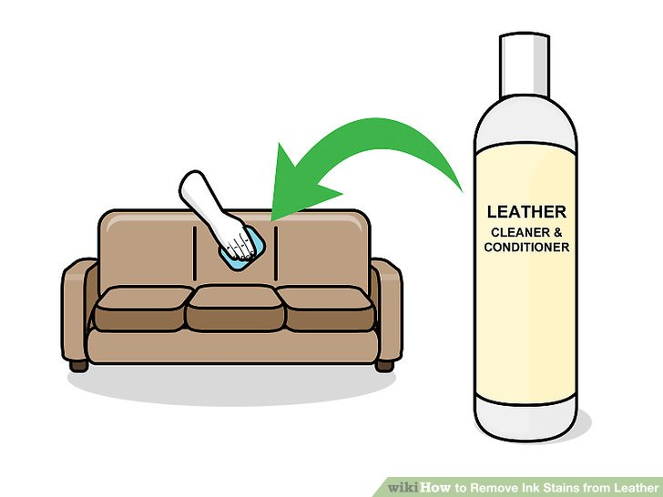 how to get rid of ink marks on leather sofa best full size sleepers 3 ways remove stains from wikihow image titled step 8
