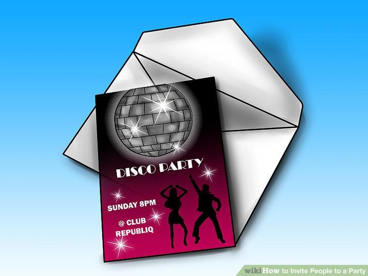 Gestalten Sie Ihre Einladung so, dass sie dem Partythema ähnelt.