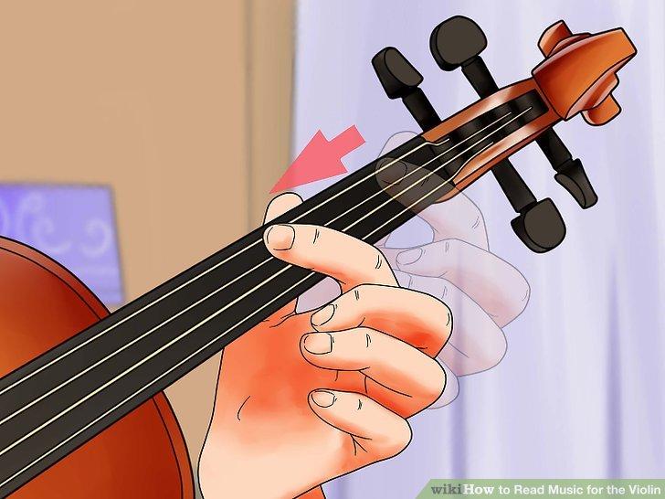 Bewegen Sie Ihre Hand nach oben oder unten über den Geigenhals, wenn die Musik römische Ziffern enthält.
