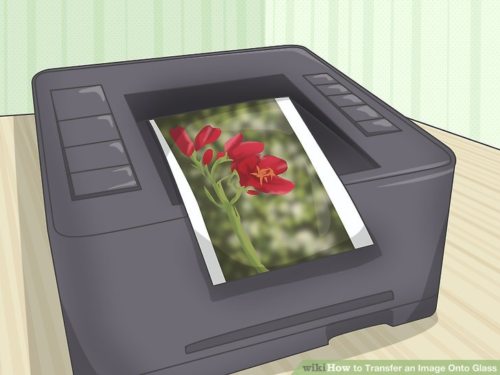 Print your image on a laser printer.