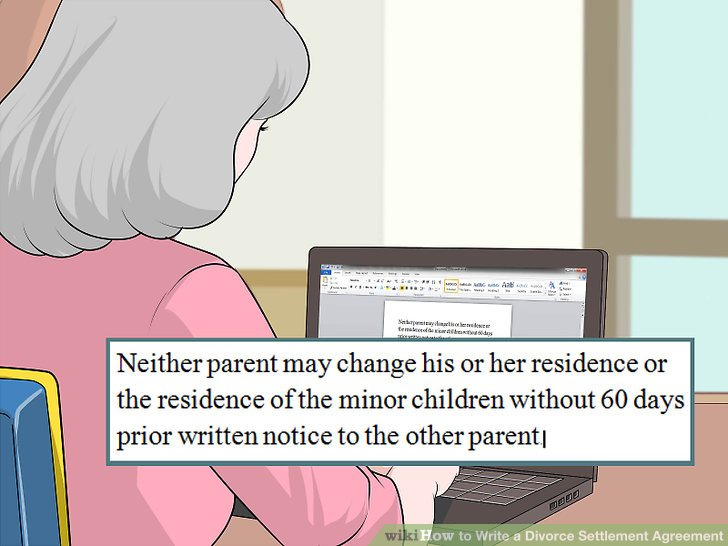 How To How To Write A Divorce Settlement Agreement