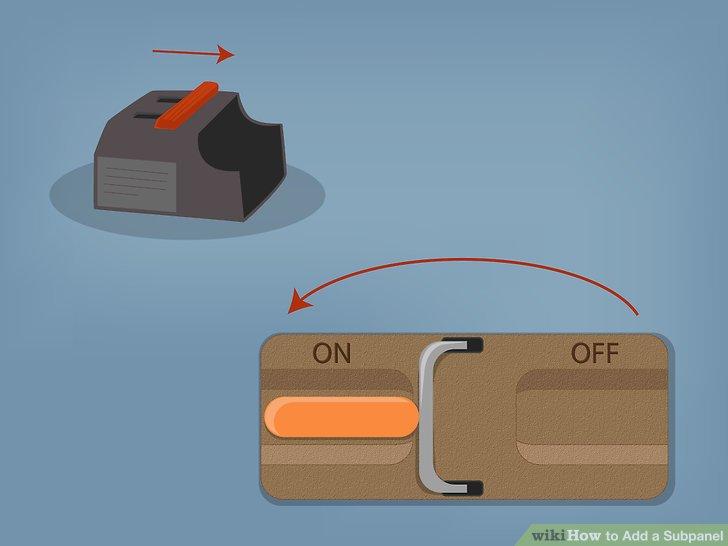 Stellen Sie die Stromversorgung wieder her, indem Sie zuerst den Trennschalter an der Haupttafel, dann den Trennschalter an der Haupttafel und dann den Trennschalter an der Nebentafel einschalten.