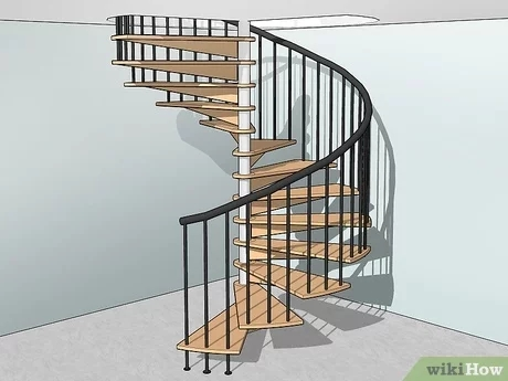 How To Build Spiral Stairs 15 Steps With Pictures Wikihow   Salter Spiral Stair Cost   Stair Railing   Deck Railing   Stair Case   Solid Wood   Collegeville Pa