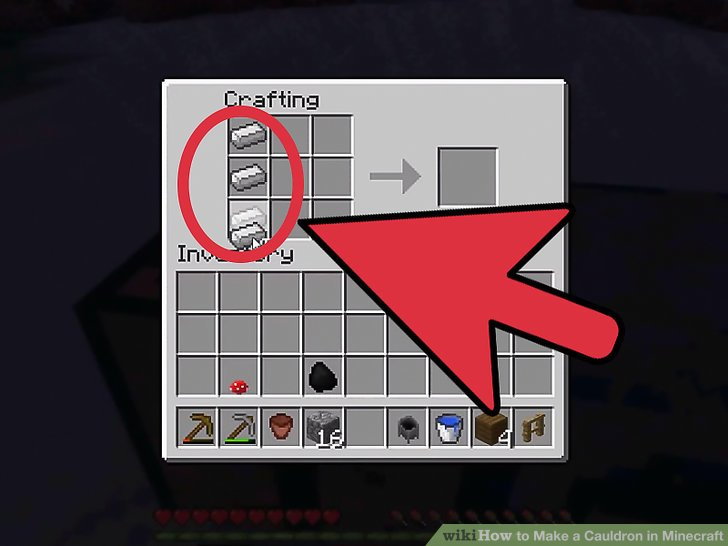 How To Make A Cauldron In Minecraft Ps4