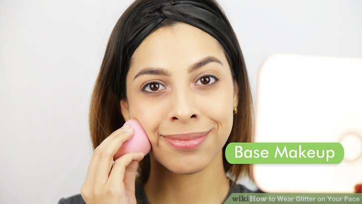 Apply your base makeup first, if you will be wearing any.