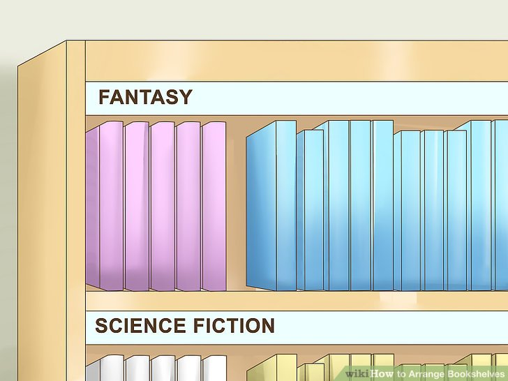 How to Arrange Bookshelves 11 Steps with Pictures  wikiHow