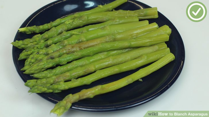 Wash your asparagus in cool water to remove superficial dirt.