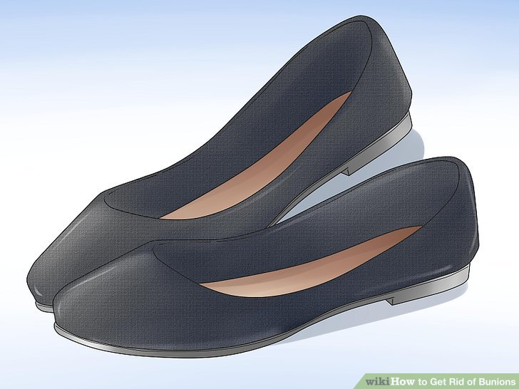 Wear low-heeled shoes of the appropriate width for your feet.