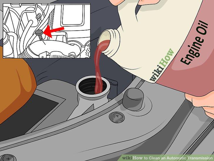 Starten Sie den Motor, wenn sich das Getriebeöl auf dem Messstab zu registrieren beginnt.
