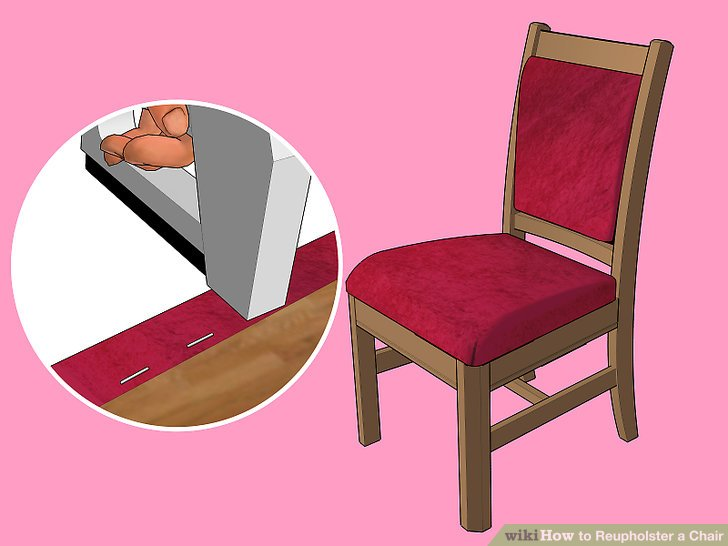 how to reupholster a chair cushion corner couch and covers for dogs the best way wikihow image titled step 39