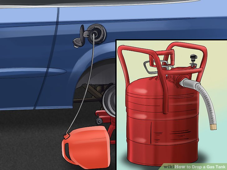Stellen Sie sicher, dass der Behälter, in den Sie den Kraftstoff ablassen, groß genug ist, um alles aufzunehmen.