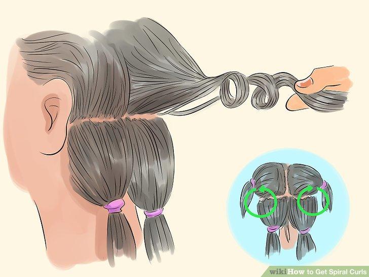 Saçın bölümünü kaldırın ve kökten bükmeye başlayın.