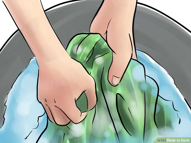 Wasche deine Seide vor.