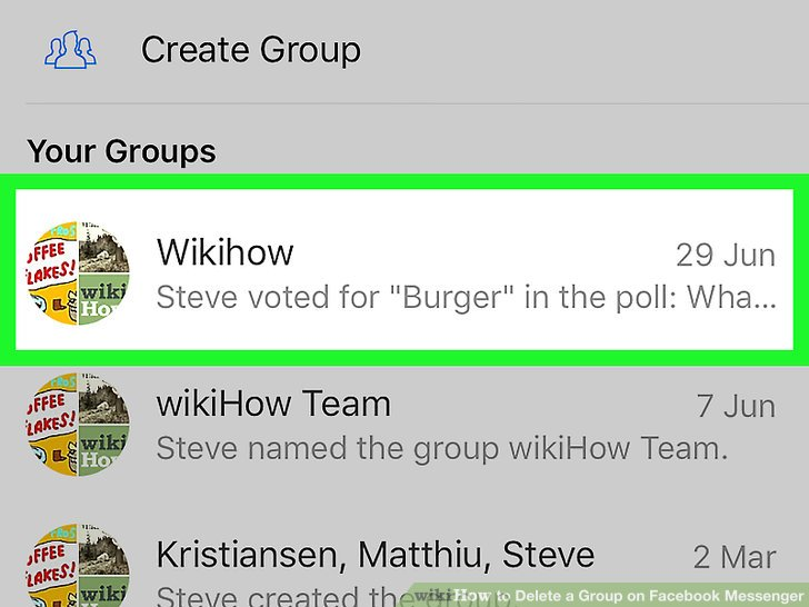 How to how to delete a group on facebook messenger tap the group you want to delete ccuart Image collections