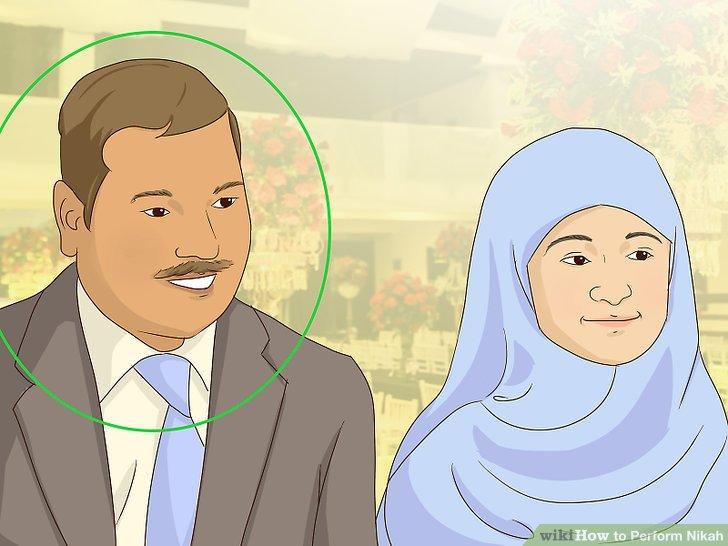 Stellen Sie sicher, dass die Braut einen Vormund hat, wenn Sie traditionell sein möchten.
