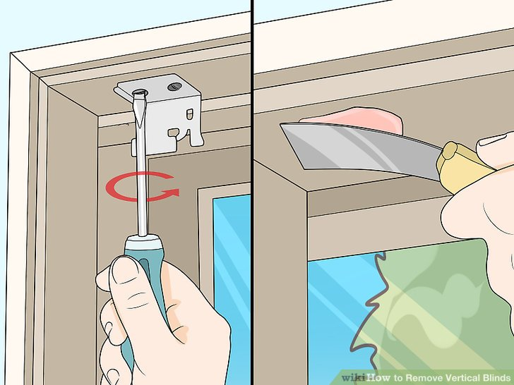 Entfernen Sie die Klammern und füllen Sie die Löcher, wenn Sie die Jalousien nicht ersetzen.