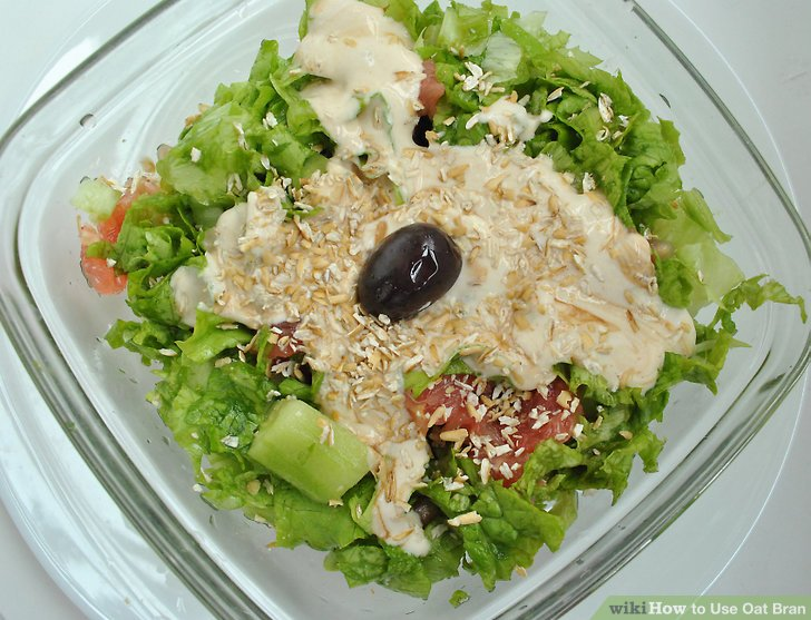 Sprinkle 1 to 2 tbsp (5.5 to 11 g) of oat bran on salads.